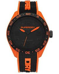 Superdry - 'navigator Pop' Quartz Plastic And Silicone Casual Watch, Color:black (model: Syg213b) - Lyst