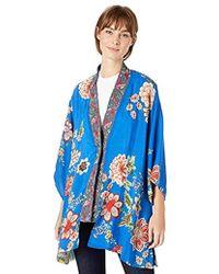 Johnny Was - Embroidered Trim Kimono - Lyst