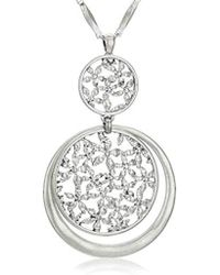 Lucky Brand - Orbital Floral Openwork Pendant Necklace - Lyst