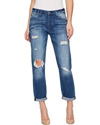 7 For All Mankind - Josefina Feminine Boyfriend Jean With Destroy - Lyst