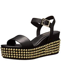 Delman - D-angie-b Studded Wedge Sandal - Lyst