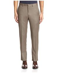 Franklin Tailored - Solid Flannel Flat Front Tyler Trouser - Lyst