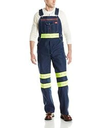 Dickies - Enhanced Visibility Bib Overall W/yellow Tape Non-ansi - Lyst