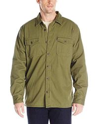 Levi's - Rittner Long Sleeve Twill Sherpa Lined Shirt Jacket - Lyst