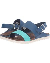 1e893518ce42 Lyst - Merrell Around Town Thong Buckle Print Sandal in Blue