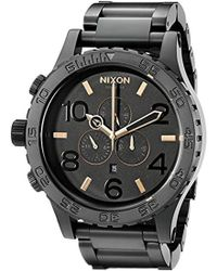 Nixon - A083957 51-30 Black Stainless Steel Chrono Watch - Lyst