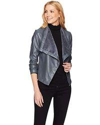 BB Dakota - Gracelyn Drape Front Vegan Leather Jacket - Lyst