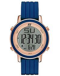 Skechers - Westport Quartz Metal And Silicone Sports Digital Watch - Lyst