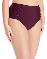 Jessica Simpson - Plus-size Solid Shirred High Waisted Bottom - Lyst