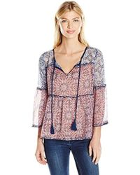 eb77e8a8d60a Jessica Simpson Gwendelin Floral Kimono in Pink - Lyst