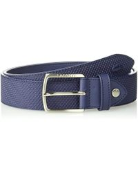 Lacoste - 35mm Stitched Raw Edges Belt - Lyst
