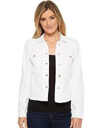 NYDJ - Denim Jacket With Fray Hem - Lyst