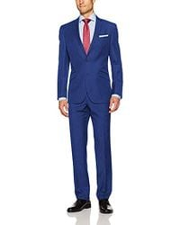 Kenneth Cole - 2 Button Slim Fit Suit With Hemmed Pant - Lyst