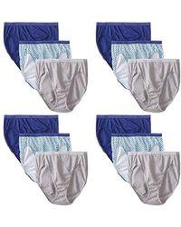 d4b47198de5a Hanes Cotton Bikini Panty Multipack in Blue - Save 18% - Lyst