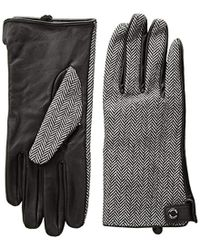Calvin Klein - Leather Palm Herringbone Glove - Lyst