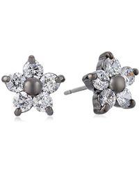 Betsey Johnson - Flower Stud Earrings - Lyst
