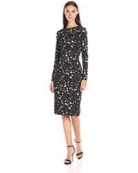 Cynthia Rowley - Sleeve Midi Printed Dress - Lyst