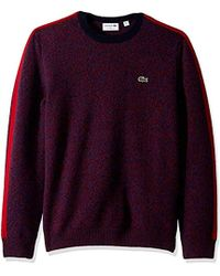 Lacoste - Long Sleeve Made In France Wool Sweater - Lyst