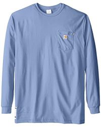 a7c2e921f196 Carhartt - Big   Tall Flame Resistant Force Cotton Long Sleeve T-shirt -  Lyst