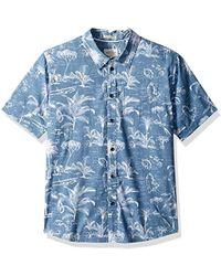 cb21d1922 Olowalu Comfort Fit Hawaiian Shirt. $70. Amazon Prime · Quiksilver -  Palmitoto Regular Fit Button Down Shirt - Lyst