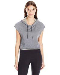 Calvin Klein - Performance Outline Cut Off Logo Crop Pullover Hoodie - Lyst