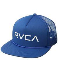 8615eb848b84f Lyst - Rvca Finley Trucker Hat in Blue for Men