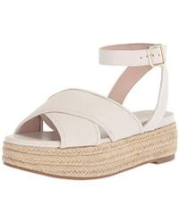 d534f4f24 Lyst - Nine West Tanlines Ankle Strap Flat Sandals in Black