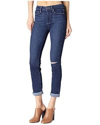 PAIGE - Hoxton Crop Rollup Jeans - Lyst