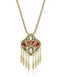 "House of Harlow 1960 - Montezuma Small Pendant Necklace, 16.5"" + 2"" Extender - Lyst"