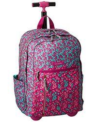 Vera Bradley - Lighten Up Rolling Backpack, Polyester - Lyst