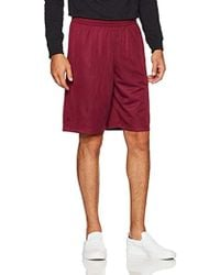 Mesh Shorts With Pockets, Amazon Exclusive Red
