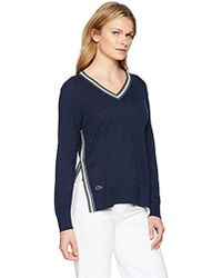 Lacoste - Jersey Athleisure Stripes Sides Vent Sweater, Af5087 - Lyst
