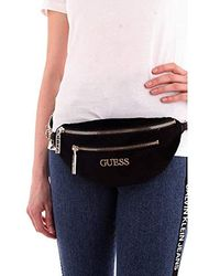 Guess Ronnie Minis Velvet Belt Bag - Black