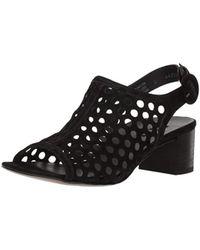 Paul Green - Women's Rae Perforated Suede Block Heel Sandals - Lyst