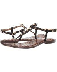 13b7bf07e Lyst - Sam Edelman Gigi Python Sandals in Natural