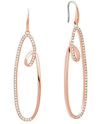 Michael Kors - S Brilliance Rose Gold-tone Drop Earrings, One Size - Lyst