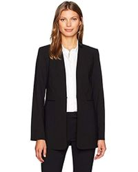 Calvin Klein - Lux Jacket Pleather Collar Detail - Lyst