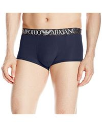 Emporio Armani - Pima Cotton Trunks - Lyst