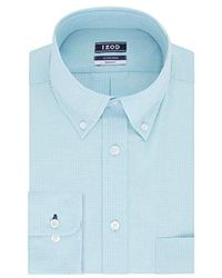 Izod - Dress Shirts Regular Fit Stretch Gingham - Lyst