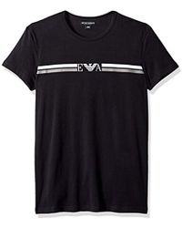 Emporio Armani - Rugby Player Crew Neck T-shirt - Lyst