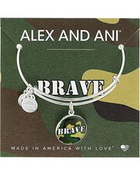 ALEX AND ANI - Armed Forces Brave, Expandable Wire Bangle Charm Bracelet - Lyst