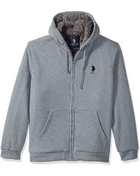 U.S. POLO ASSN. - Big And Tall Fully Sherpa Lined Fleece Hoodie - Lyst