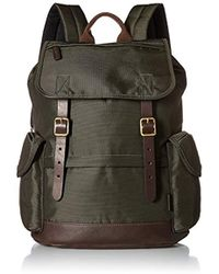Fossil - Defender Leather Trim Rucksack Backpack - Lyst