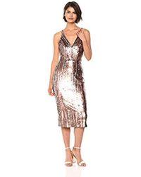 dfc4dbff Dress the Population - Margo Sleeveless Sequin Stretch Midi Dress - Lyst