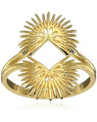 Noir Jewelry - Palm Leaves Ring - Lyst
