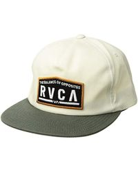 cheap for discount 6a946 3a204 RVCA - Wrecking Crew Snapback Hat - Lyst