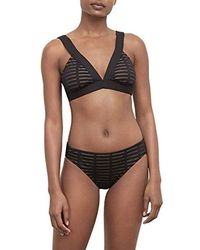 c83690b9bd Kenneth Cole - Banded Triangle Over The Shoulder Hipster Bikini Swimsuit Top  - Lyst