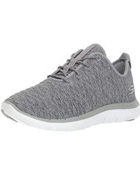4ffdcf793665 Skechers - Flex Appeal 2.0 First Impressions Women Synthetic Gray Sneakers  - Lyst