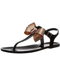 e0016fd44d0b69 Lyst - Ted Baker Camaril Toe Post Sandals in Black