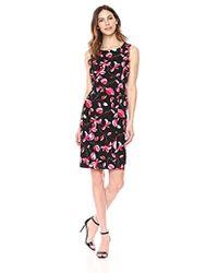 Kasper - Printed Blossom Sheath Dress - Lyst